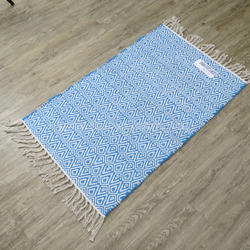 Diamond Cotton Mats Woven Cotton Rug