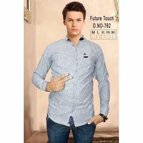 8d5af295430 Mens Shirt - Grey Mens Shirt Manufacturer from Ahmedabad