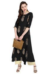 Party Wear Crepe Kurti