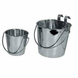 Stainless Steel Flat Bucket