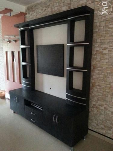 Pvc Tv Showcase Pvc Tv Cabinets Tv Unit Pvc Tv Online: TV Unit With Wallpaper Manufacturer From Coimbatore