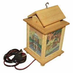 Wooden Gemstone Lamp
