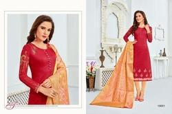 Round Neck Saeeda Suit Salwar Fabric