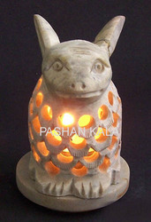 Soapstone Candle Stand and T Light Holder