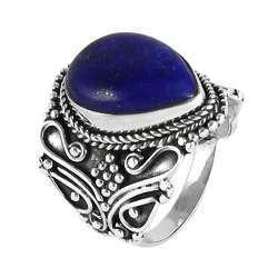 Fine Lapis 925 Sterling Silver Rings