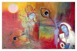 Krishna Meera Painting