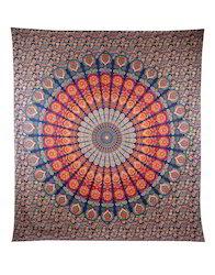 Mandala Bohemian Queen Ombre Printed Cotton Wall Hangings