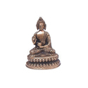 Brass Buddha Sitting Antique Finish
