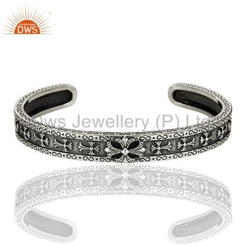 925 Sterling Silver Antique Cuff Bracelet