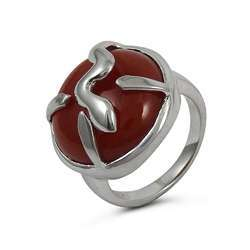 Placid Carnelian Gemstone Silver Ring