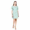 Fancy Designer Green Shift Dress