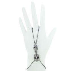 Diamond Skull Charm Hand Harness