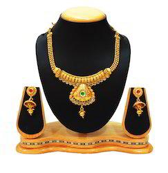 Traditional Multi-colour Neck Fit Necklace Set