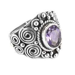 Circle Of Hope Amethyst 925 Sterling Silver Ring
