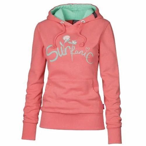 36c9c6db2df Ladies Sweatshirts - Ladies Hooded Full Sleeves Sweatshirt ...