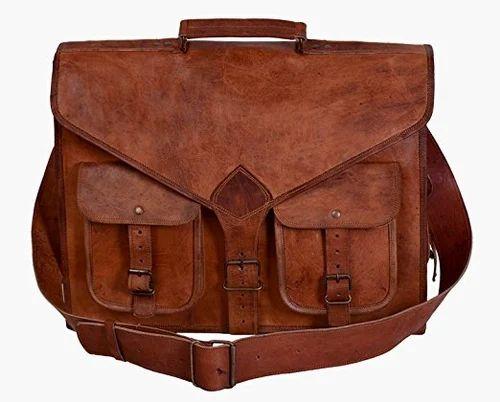 fd8358eda5a4 Laptop Bag - 18 Inch Vintage Handmade Leather Messenger Bag for ...