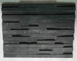 Kadappa Black sandstone wall panel / wall cladding tiles