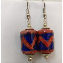 Blue Pottery Earrings
