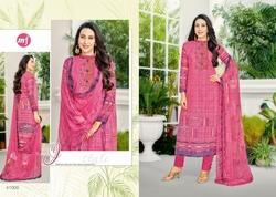 Collar Neck Eleesaa Salwar Suit Fabric