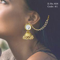 Designer Wedding Bollywood Style Kundan Earrings