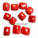 Natural Italian Red Coral Gemstone