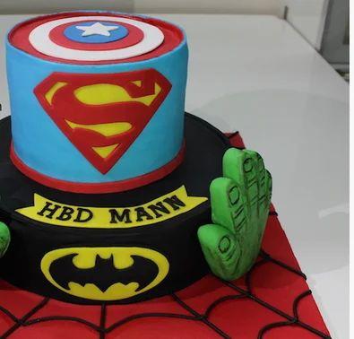 Superhero Superheroes Avengers Hulk Captain Cake Bakery Caterer