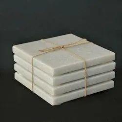 White Marble Coasters (Set of 4 pcs.)