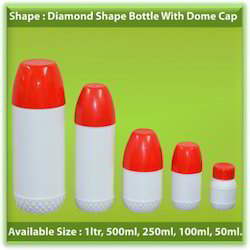 HDPE Diamond Shape Bottle With Dome Cap