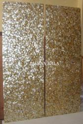 Golden Mother of Pearl Wall Panel