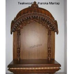 Teakwood Jharoka Mantap