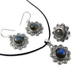 Labradorite 925 Sterling Silver 4 Piece Set