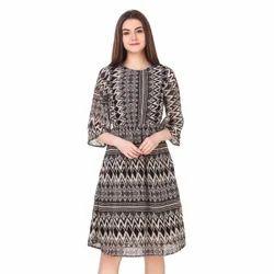 Printed Designer Short Western Dress