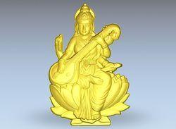 Goddess Saraswati Artcam File