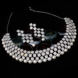 cfd6a04f0 American Diamond Necklace Set - Elegant American Diamond Necklace ...