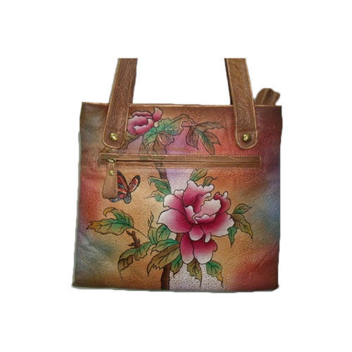 5c8280504 Hand Painted Leather Hand Bag - Hand Flower Painted Leather Hand Bag ...