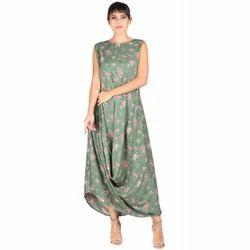 Floral Print Western Maxi Dress