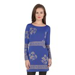 Ira-Soleil-Blue-Polyester-Knitted-Strechable-Block-Printed