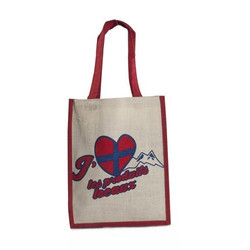 Juteberry Shopping Bag Red Handle