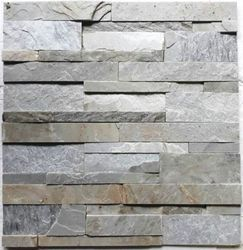 Himachal White Slate Stone Wall Panels for Wall Cladding