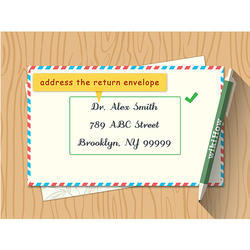 Wedding Card Addresses Label