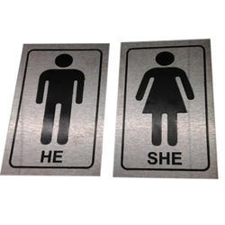 SS Toilet Sign Board