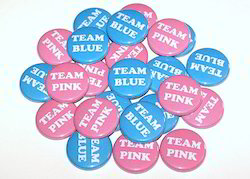 Plastic Promotional Pin Badge