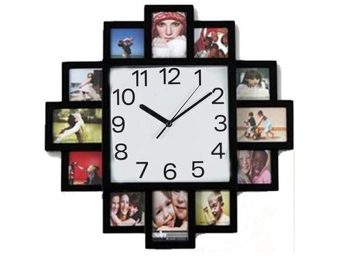 Personalized Photo Clock Gifts - Wooden Base Photo Frame Clock ...