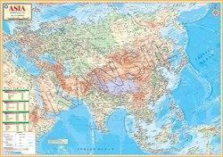 Asia Physical For Wall Map Physical