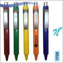 Plastic Opaque Pen with Satin Parts