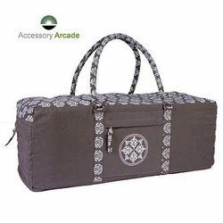 Yoga Kit Bag (Grey) With Print & Embroidery