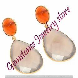 Gray Chalcedony Earring