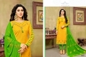 Round Neck Full Sleeve Havya Salwar Suit Fabric