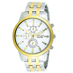Silver Gold Stainless Steel Watch
