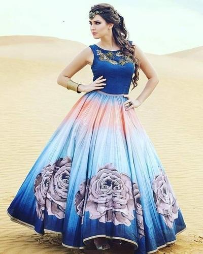 Women Western Wear - Digital Print Gowns Manufacturer from Surat 812382d9a